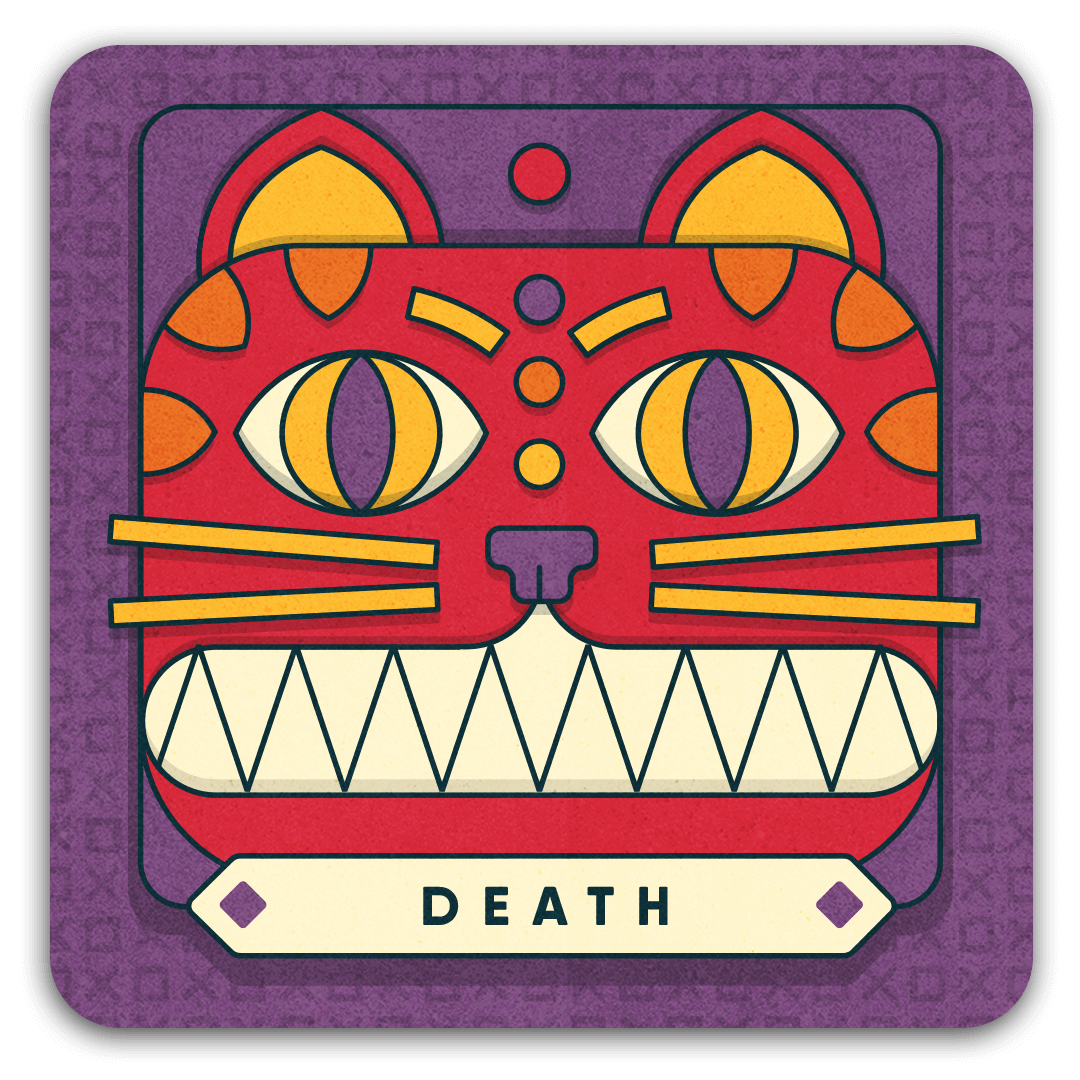 death card with cat