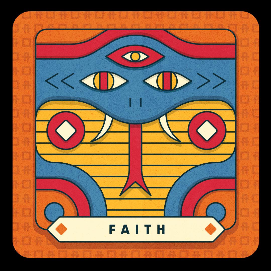 faith card with snake