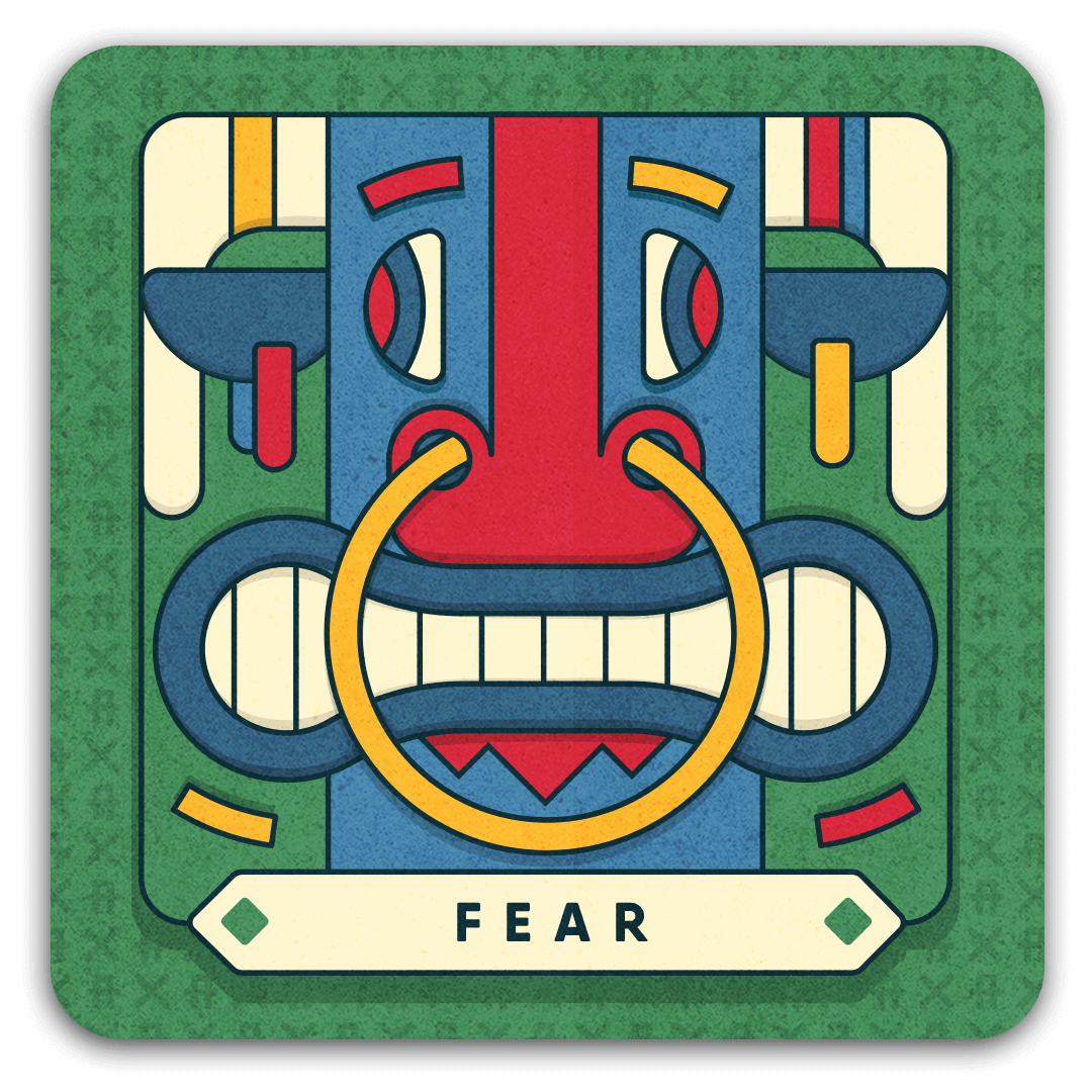 fear card with nosering bull
