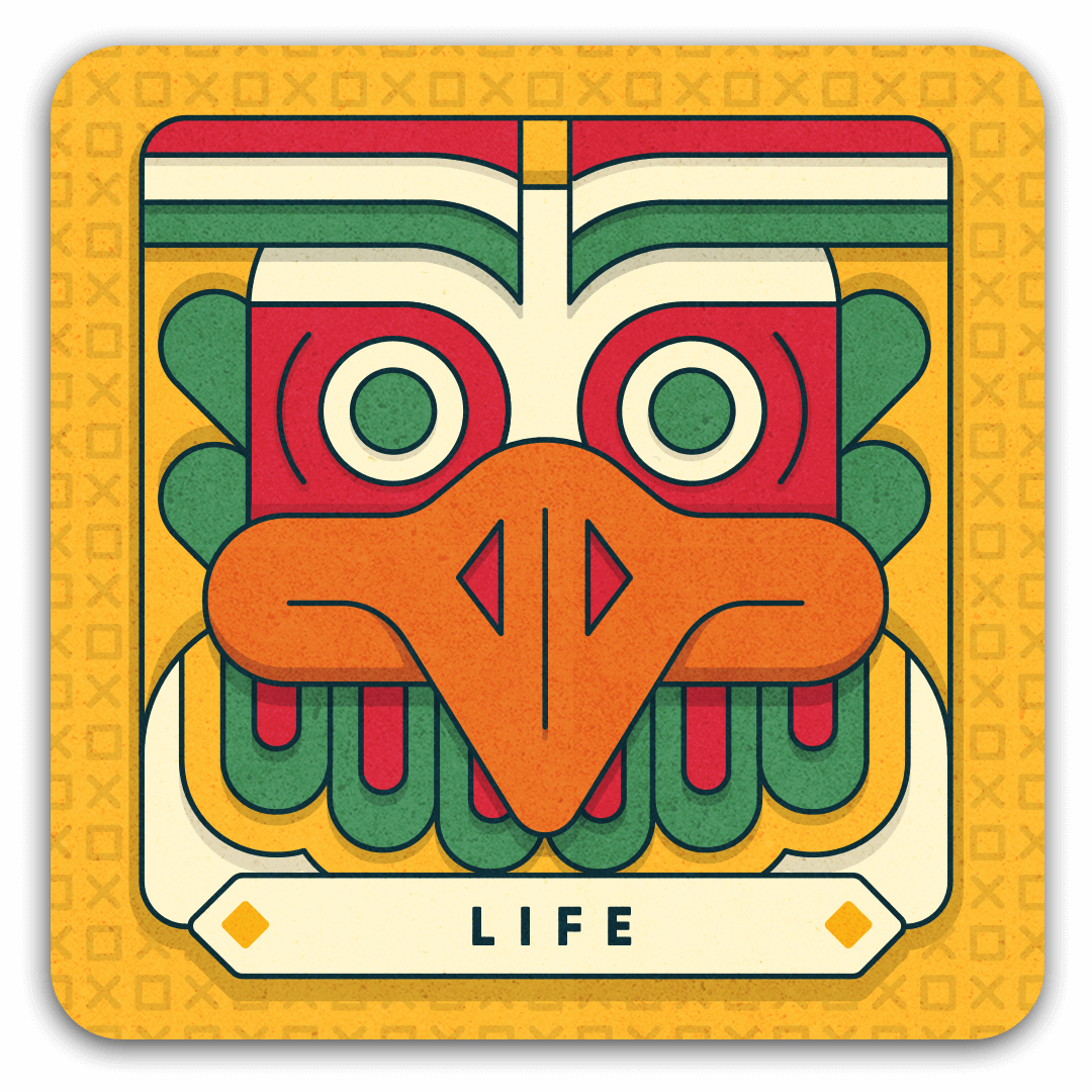 life card with eagle