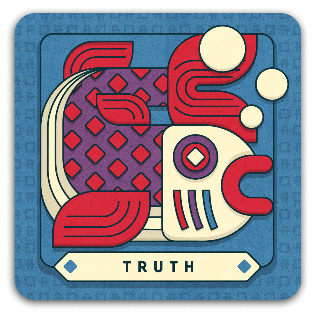 TRUTH card with fish