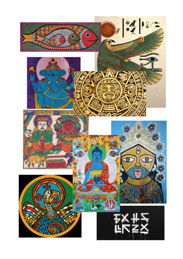 ARTWORK INSPIRATION FOR TOTEMS AND TABOO BOARD GAME