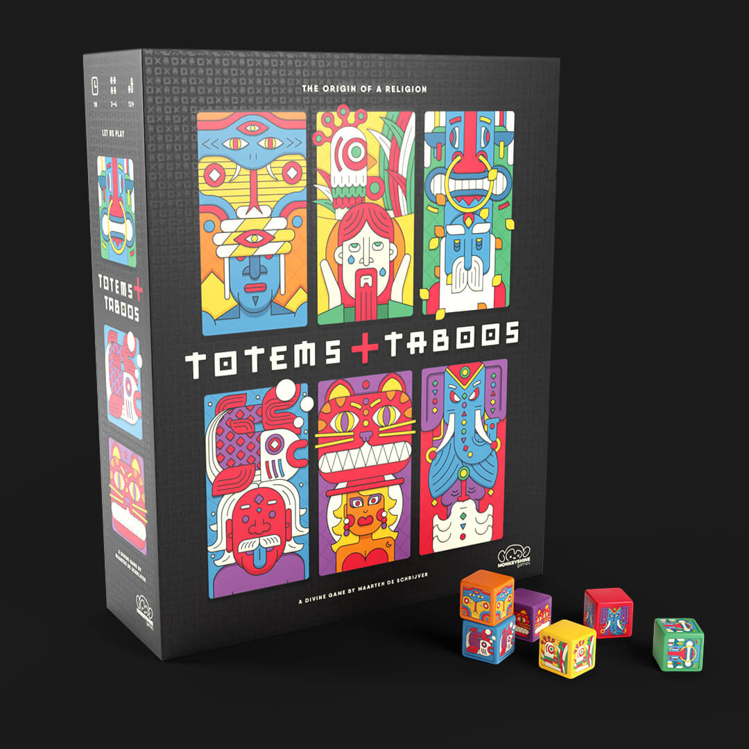 totems and taboos box with dice