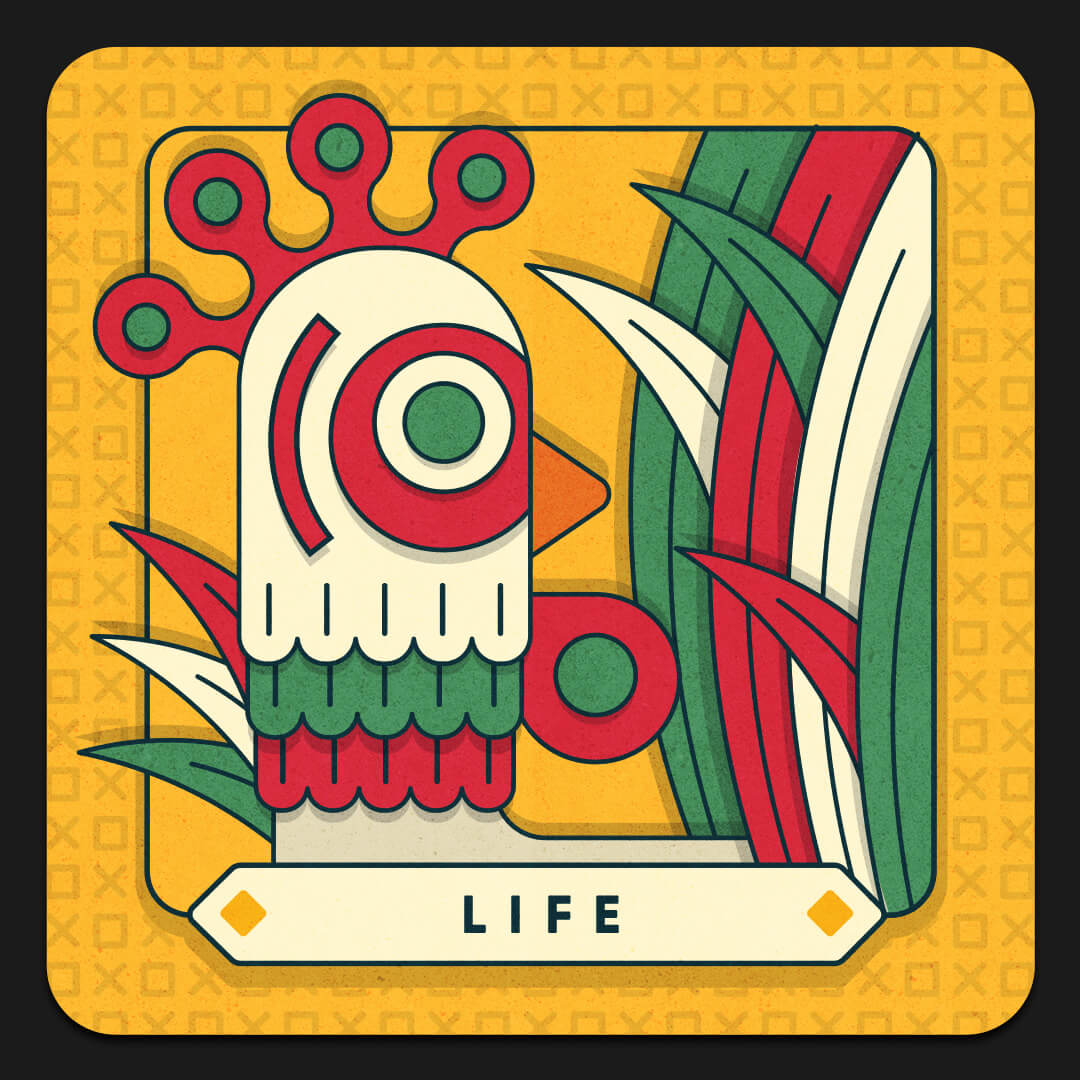LIFE card with chicken